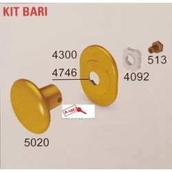 SECUREMME KIT POMOLO BARI CROMO SATINATO