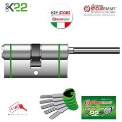 SECUREMME CILINDRO K22 CODOLO-30 ART 3220QCS3030